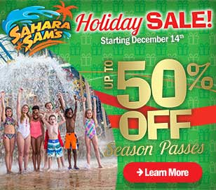 Give the Gift of year-round, weatherproof fun and save up to 50%! Last chance to save on unlimited visits during our online only Holiday Sale starting on December 14th!