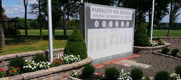 Warrington War Memorial in Bucks County PA