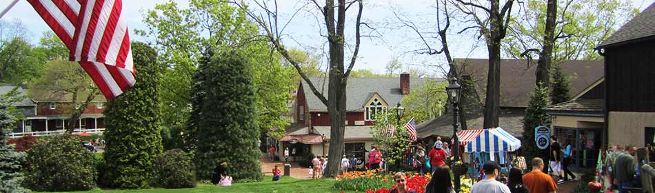 Peddler's Village is a 42-acre, outdoor shopping mall featuring 65 retail shops and merchants, 3 restaurants, a 71 room hotel and a Family Entertainment Center. in the Warrington, Bucks County PA area